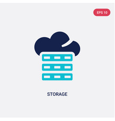 two color storage icon from big data concept vector image
