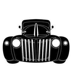 vintage car front side vector image
