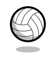 Volleyball sport ball logo line 3d icon vector