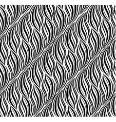 wavy line seamless pattern floral texture vector image