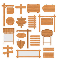 wooden signages set vector image