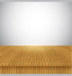 Wooden table display background vector