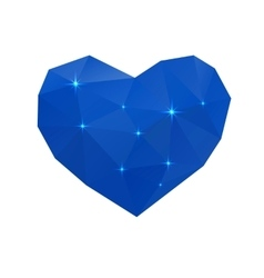blue cold heart vector image vector image
