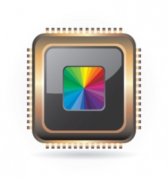 golden chip vector image