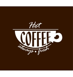 Hot coffee banner vector image
