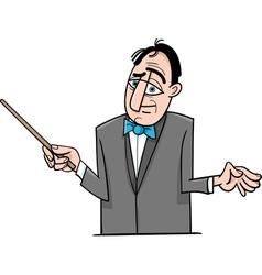 orchestra conductor cartoon vector image vector image