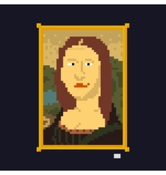 Pixel art style drawing lady masterpiece vector image vector image