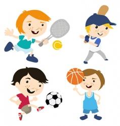 sport cartoon vector image