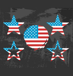 usa flag on black background vector image