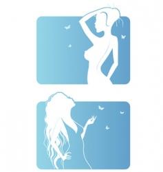 women background vector image