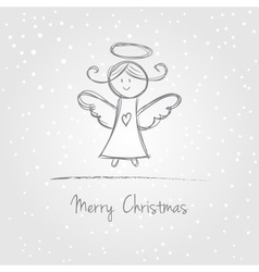 Christmas angel doodle vector image
