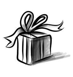 Present box cartoon doodle sketch vector image vector image