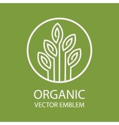 abstract organic emblem vector image vector image