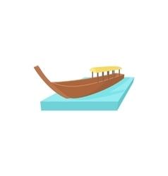 Boat icon in cartoon style vector image vector image