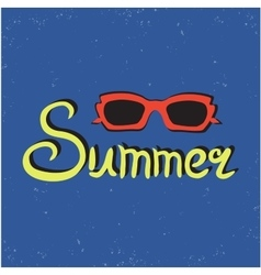 Bright summer card poster with sunglasses vector image