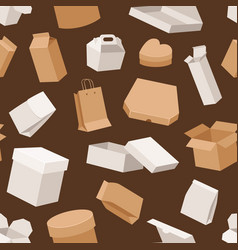 different boxes packseamless pattern warehouse vector image