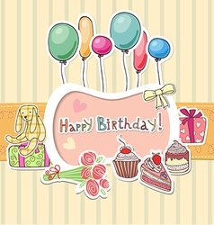 Happy birthday border vector image vector image