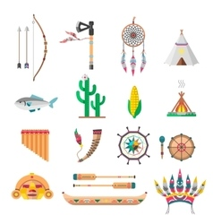 Indians icon temple ornaments vector image vector image