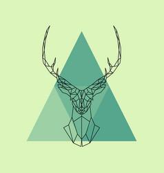 Polygonal reindeer head vector