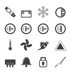 Silhouette Car Dashboard icons vector image vector image