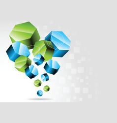 3d hexagon vector image