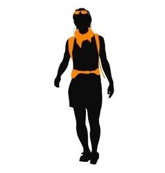 Backpacker vector image vector image
