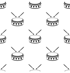 Drum black icon for web and mobile vector image