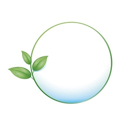 green button leaf vector image