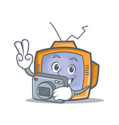 photography tv character cartoon object vector image vector image