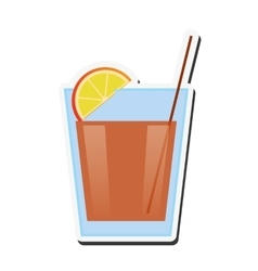 single cocktail icon vector image vector image
