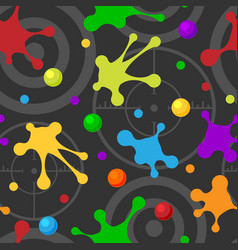 splash seamless pattern dark colorful hand drawn vector image