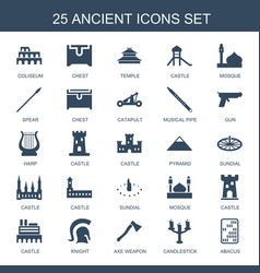 25 ancient icons vector