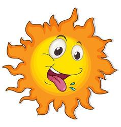 A happy sun vector image