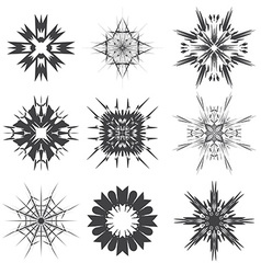 Abstract black and white signs vector