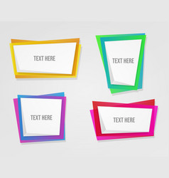 abstract colorful modern shape frames vector image