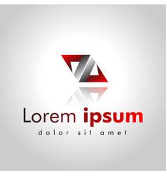abstract logo design symbol arrow vector image