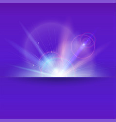 Abstract space background with light rays and lens vector