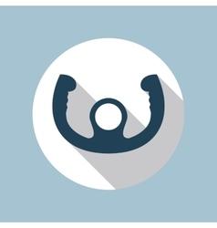 Aircraft Control Wheel Icon vector image