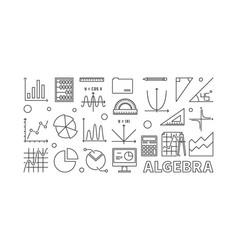 Algebra outline or banner vector