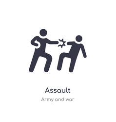 Assault icon isolated assault icon from army and vector