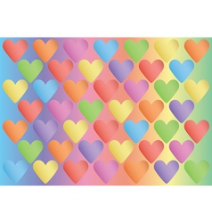 background with color valentines vector image vector image
