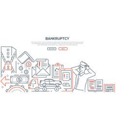 bankruptcy - modern line design style vector image