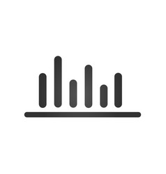 bar chart bussiness financial icon isolated on vector image