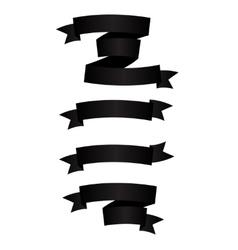 Beautiful Black Ribbon Label vector