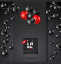 black friday poster with discount offer vector image