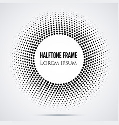 Black halftone mosaic dot frame vector