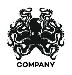 black octopus logo vector image