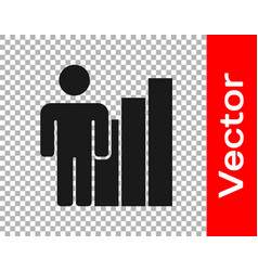 Black productive human icon isolated on vector