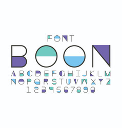 Boon blue font alphabet vector