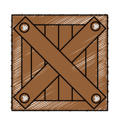 Box wooden delivery service vector